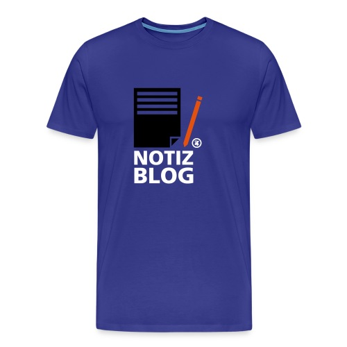 Männershirt Notiz Blog - Männer Premium T-Shirt