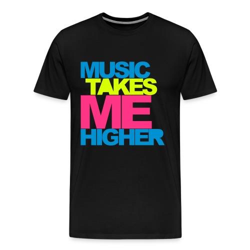 Music takes me higer T-shirt - Men's Premium T-Shirt