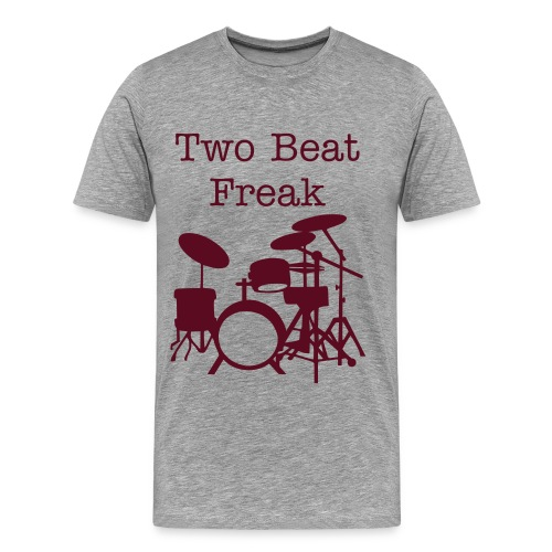Two Beat - Ash & Brown - Men's Premium T-Shirt
