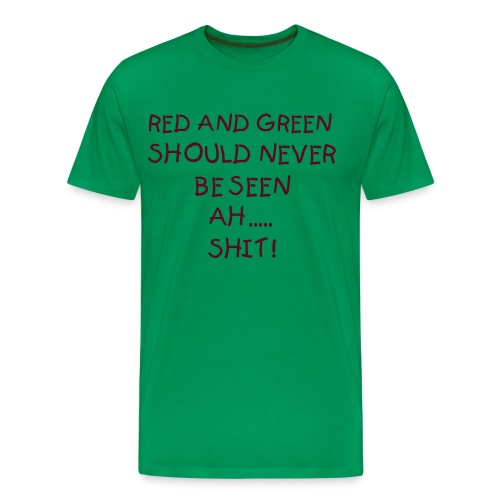 Men's Premium T-Shirt - Green, Red, Tshirt, Funny, Indie