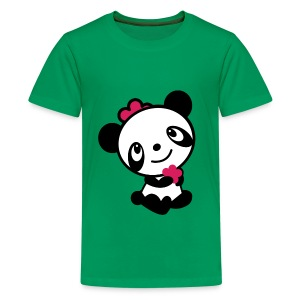Children's T shirt with retro panda - Teenage Premium T-Shirt