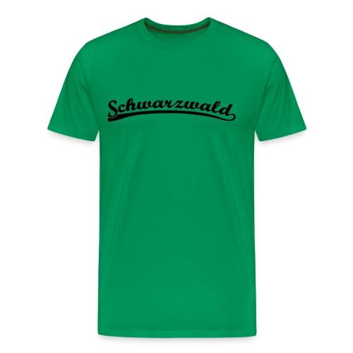Schwarzwald Retro Schrift T-Shirt  - Männer Premium T-Shirt