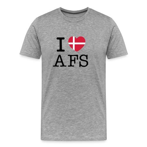Grå herre t-shirt (I Love AFS) - Herre premium T-shirt