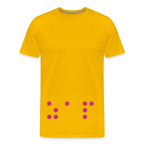 ZAP BRAILLE TSHIRT - Men's Premium T-Shirt