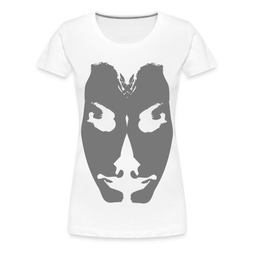 Half-face vrouw - Vrouwen Premium T-shirt