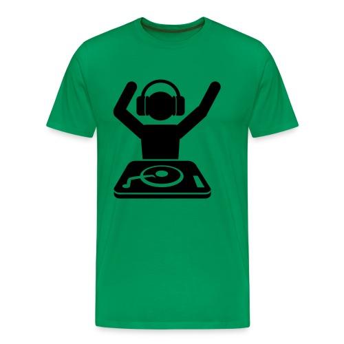 DJ T-Shirt Grün - Männer Premium T-Shirt