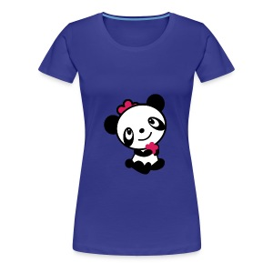 Womens t-shirt retro panda - Women's Premium T-Shirt