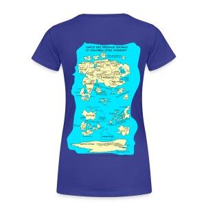 Carte des réseaux sociaux (version femme) - T-shirt Premium Femme