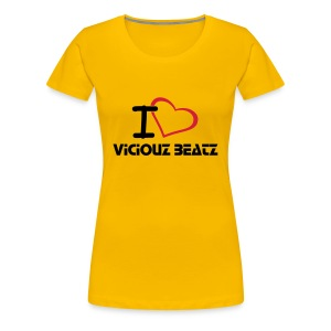 I love Viciouz Beatz pink (Girly) - Frauen Premium T-Shirt