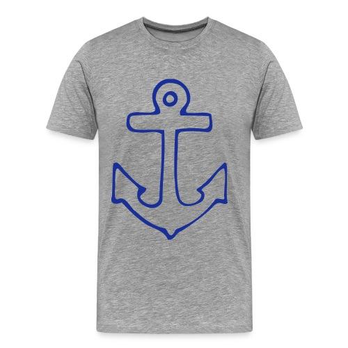 Anker - grau meliert - Männer Premium T-Shirt
