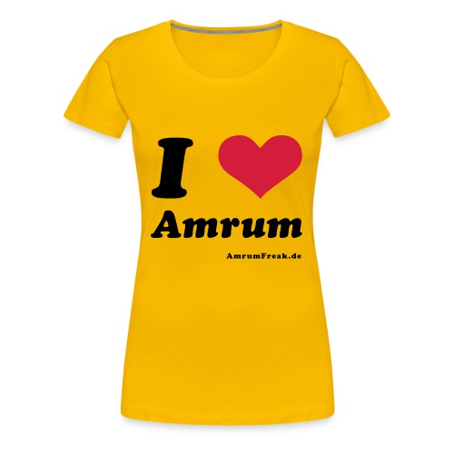 I Love Amrum - Frauen Premium T-Shirt