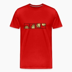 Burgundy red Monkey Business Men's T-Shirts