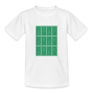 L U F C AZTEC - CRYPTIC L U F C DESIGN  - Teenage T-shirt