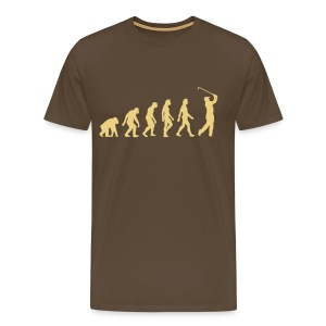 Noble brown Evolution of Golf (1c) Men's T-Shirts - Men's Premium T-Shirt