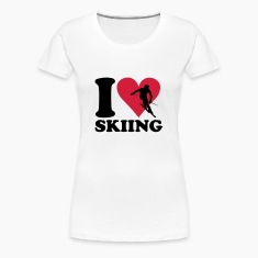 White I love Skiing - Ski Women's T-Shirts