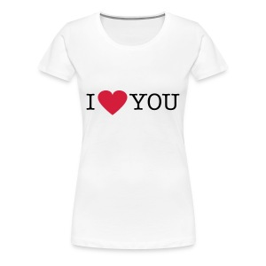 I Love You - Vrouwen Premium T-shirt