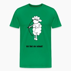 Forest green Sheep with bow Men's T-Shirts