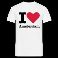 T-shirts ~ Mannen T-shirt ~ I Love Amsterdam