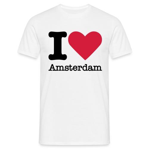 I Love Amsterdam - Mannen T-shirt