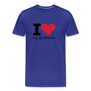 I Love my Girlfriend - Mannen Premium T-shirt