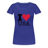 T-shirts ~ Vrouwen Premium T-shirt ~ I Love USA