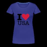 T-shirts ~ Vrouwen Premium T-shirt ~ I Love USA