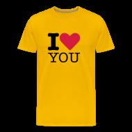 T-shirts ~ Mannen Premium T-shirt ~ I Love YOU