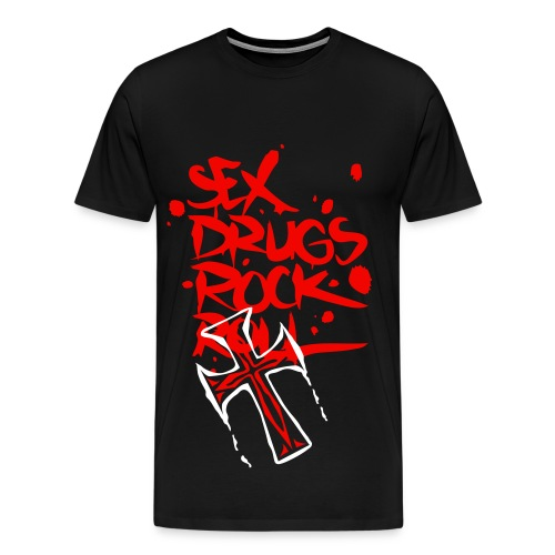 sex drogs rock - Premium-T-shirt herr
