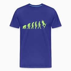 blue Evolution of Kite Surfing (1c) Men's T-Shirts
