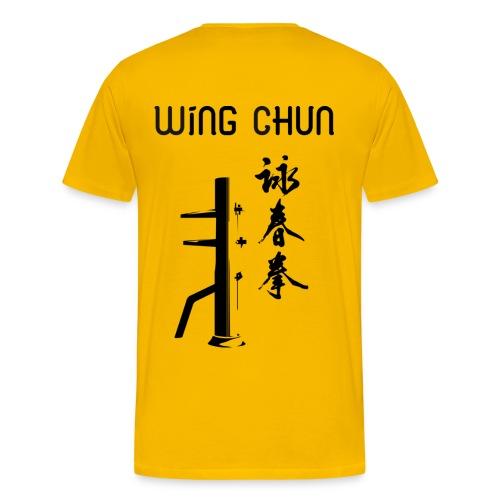 T-Shirt Jaune - Wing Chun - T-shirt Premium Homme