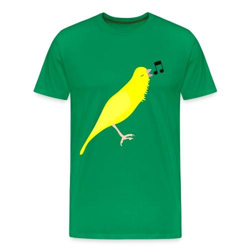 Zangkanarie - Mannen Premium T-shirt