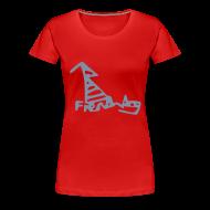 T-Shirts ~ Women's Premium T-Shirt ~ French Dog Women's Girlie Shirt