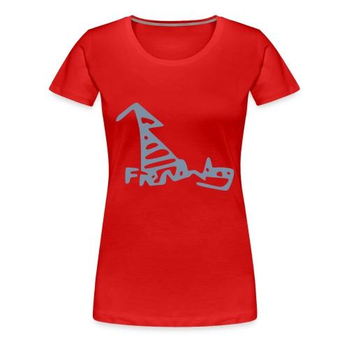 French Dog Women's Girlie Shirt - Women's Premium T-Shirt