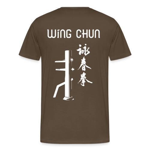 T-Shirt Marron - Wing Chun - T-shirt Premium Homme