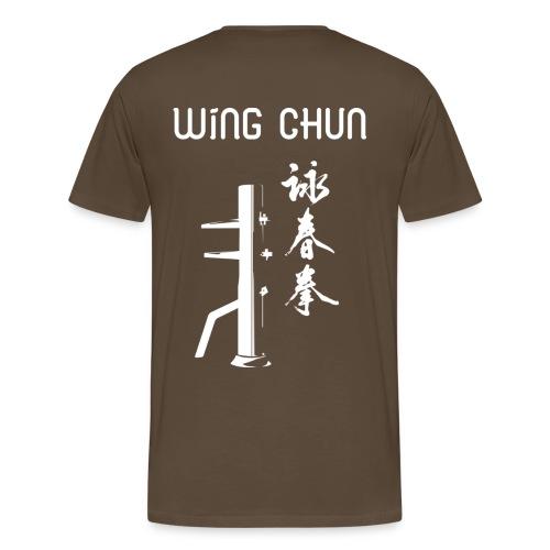 T-Shirt Marron - Wing Chun - T-shirt Premium Homme