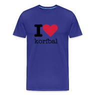 T-shirts ~ Mannen Premium T-shirt ~ I Love Korfbal