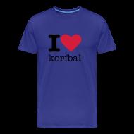 T-shirts ~ Mannen Premium T-shirt ~ I Love Korfbal
