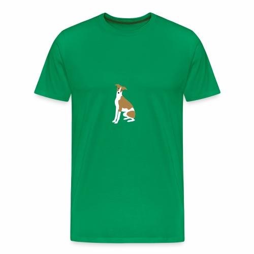 Whippet sitzend - Männer Premium T-Shirt
