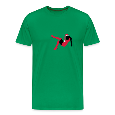 Sexy X-Mas Christmas 2 erotic silhouette woman female T-Shirts