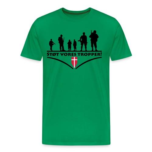 Støt Vore Tropper - Herre premium T-shirt