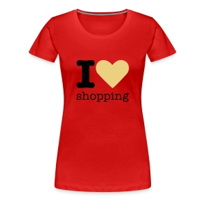 I Love Shopping - Vrouwen Premium T-shirt