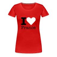 T-shirts ~ Vrouwen Premium T-shirt ~ I Love France