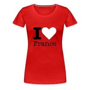 I Love France - Vrouwen Premium T-shirt
