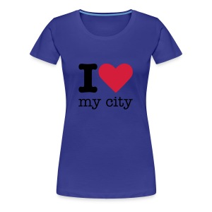 I Love My City - Vrouwen Premium T-shirt