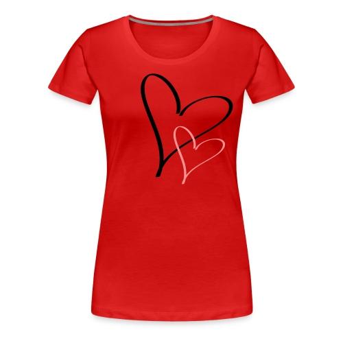HEart - Naisten premium t-paita