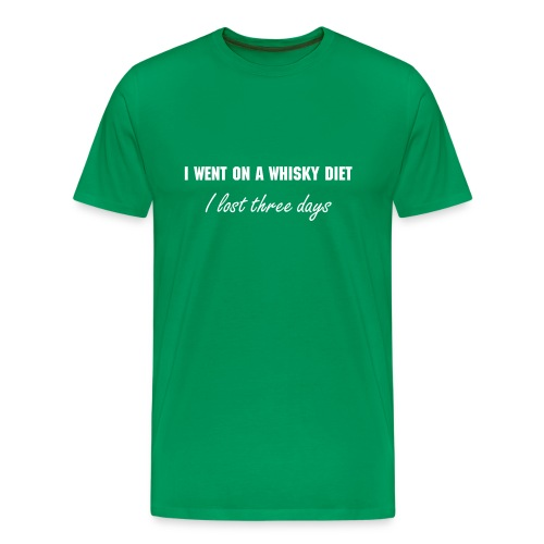Men's 'Whisky Diet' Tee - Men's Premium T-Shirt