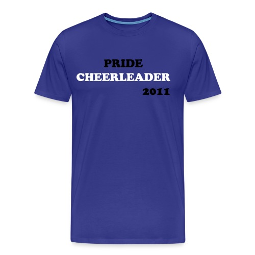 PRIDE CHEERLEADER 2011 - Premium T-skjorte for menn