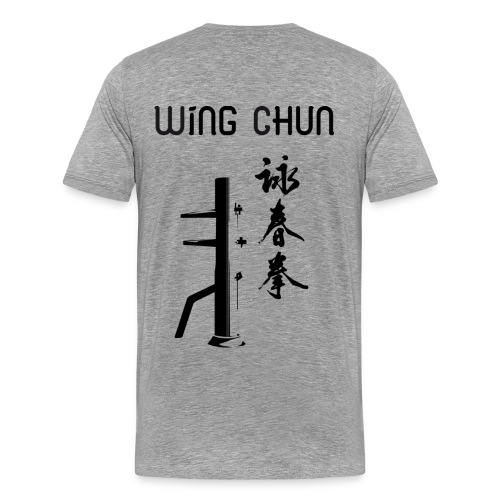 T-Shirt Gris - Wing Chun - T-shirt Premium Homme