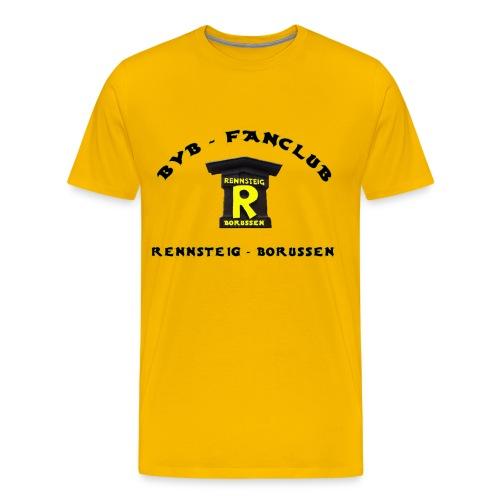 T-Shirt Mann Gelb Druck Vorne - Männer Premium T-Shirt