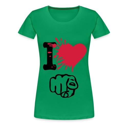 I love U! - Naisten premium t-paita